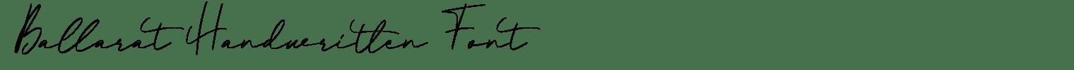 Ballarat Handwritten Font