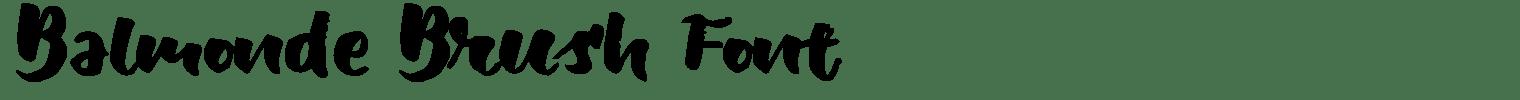 Balmonde Brush Font