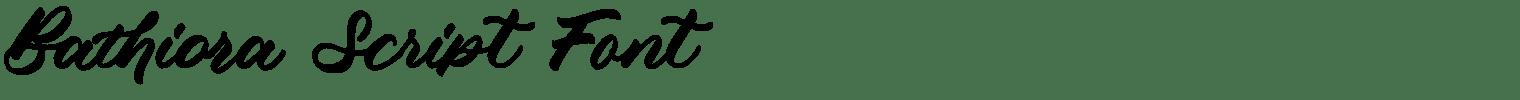 Bathiora Script Font