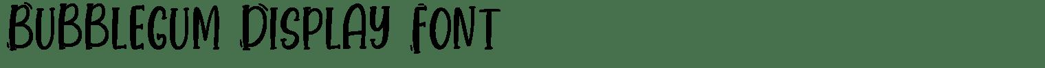 Bubblegum Display Font