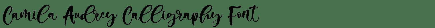 Camila Audrey Calligraphy Font