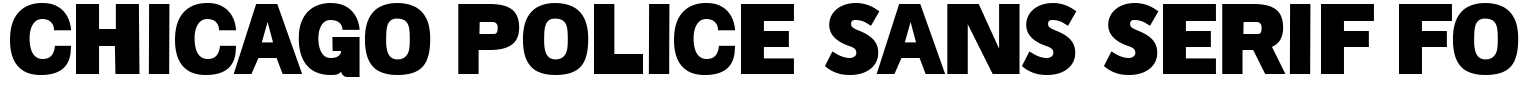 Chicago Police Sans Serif Font