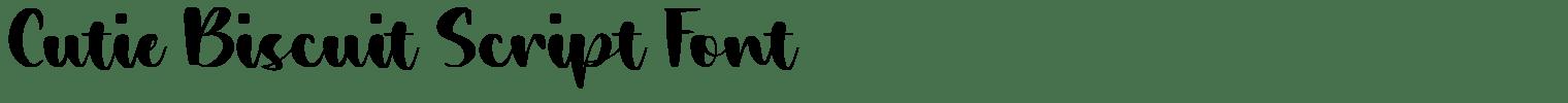 Cutie Biscuit Script Font