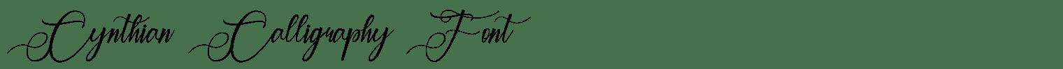 Cynthian Calligraphy Font