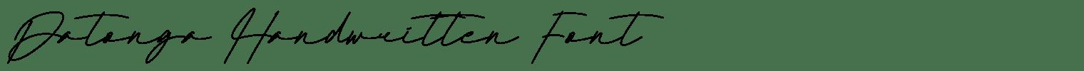 Datonga Handwritten Font