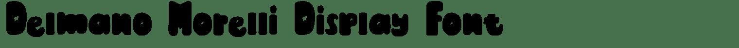 Delmano Morelli Display Font