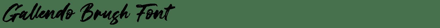 Gallendo Brush Font
