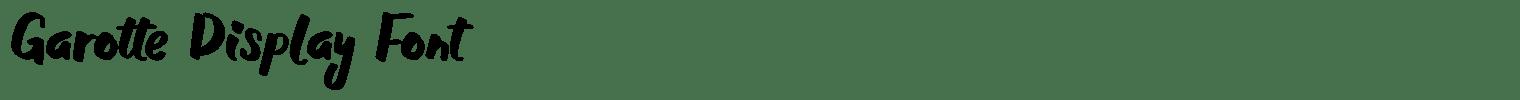 Garotte Display Font
