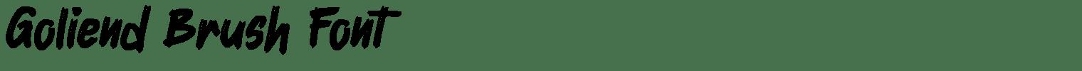 Goliend Brush Font