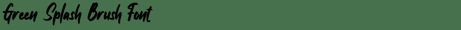Green Splash Brush Font