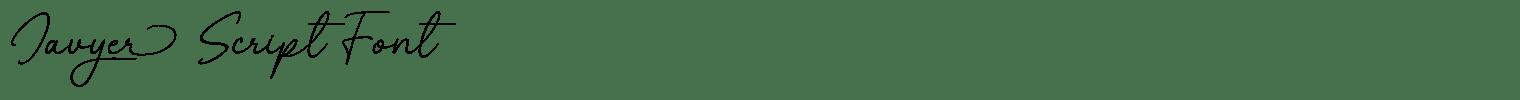 Javyer Script Font