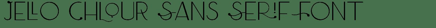 Jello Chlour Sans Serif Font