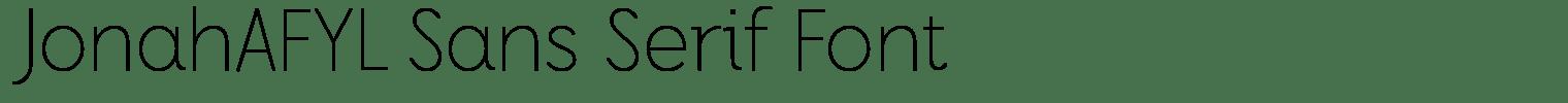 JonahAFYL Sans Serif Font