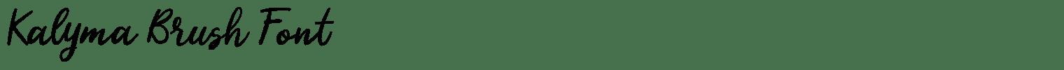 Kalyma Brush Font