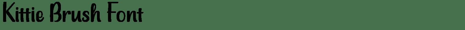 Kittie Brush Font