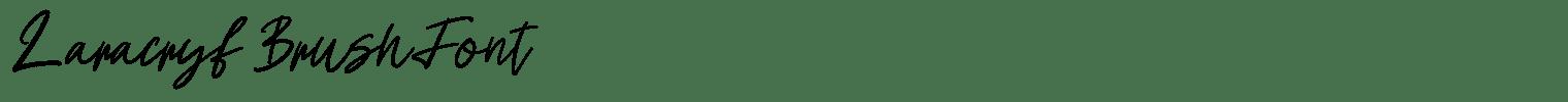 Laracryf Brush Font
