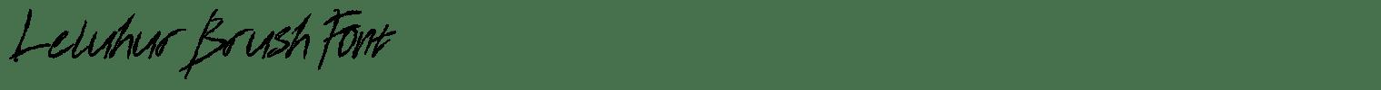 Leluhur Brush Font