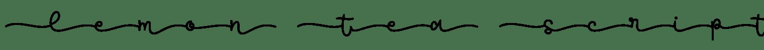 Lemon Tea Script Font