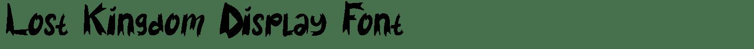 Lost Kingdom Display Font