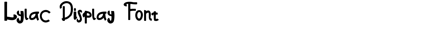 Lylac Display Font