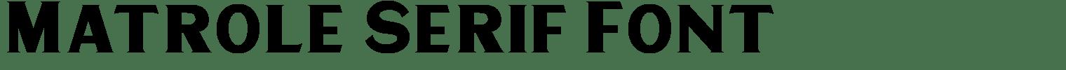 Matrole Serif Font