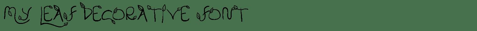 My Leaf Decorative Font