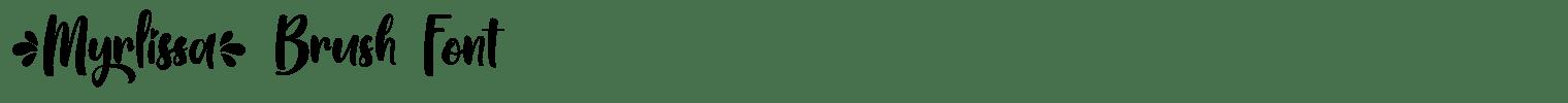 Myrlissa Brush Font
