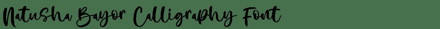 Natusha Bayor Calligraphy Font
