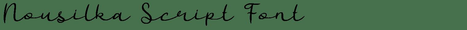 Nousilka Script Font