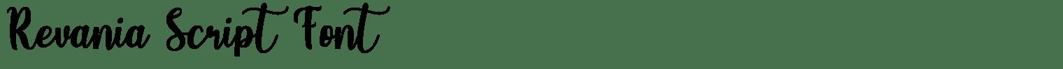 Revania Script Font