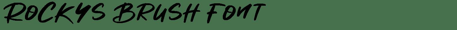 Rockys Brush Font