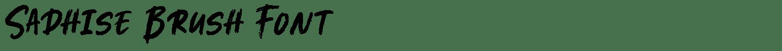 Sadhise Brush Font