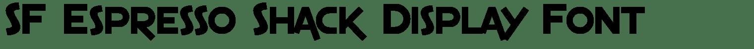 SF Espresso Shack Display Font