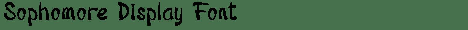 Sophomore Display Font