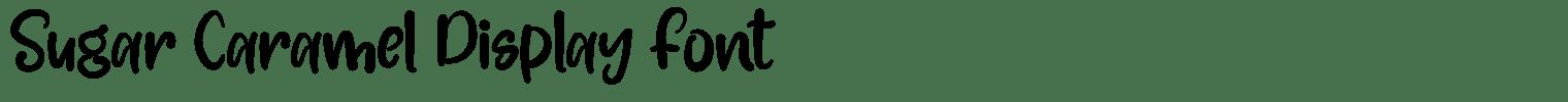 Sugar Caramel Display Font
