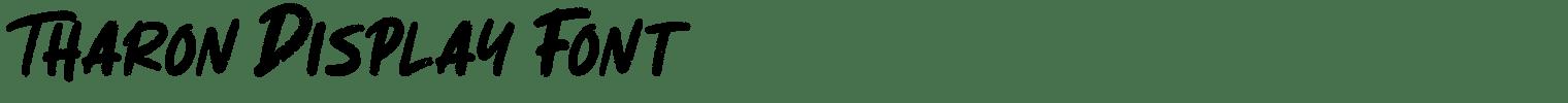 Tharon Display Font