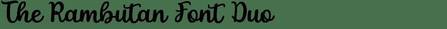 The Rambutan Font Duo