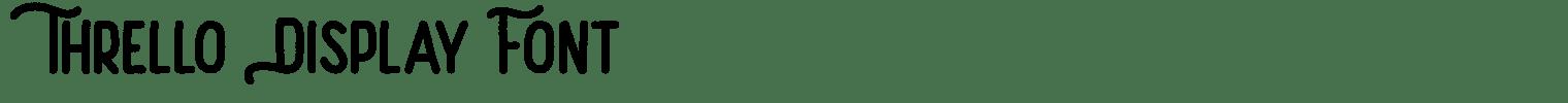Thrello Display Font