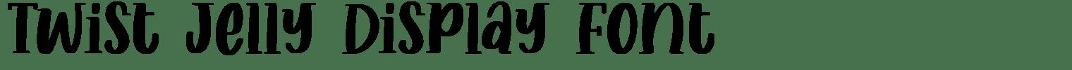 Twist Jelly Display Font