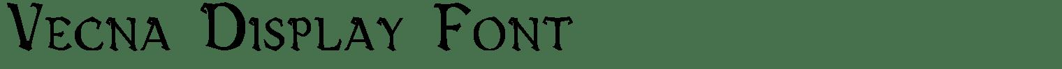 Vecna Display Font