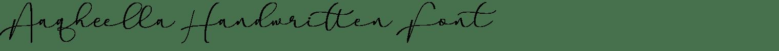 Aaqheella Handwritten Font