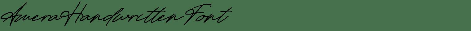 Amera Handwritten Font