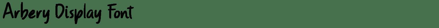 Arbery Display Font