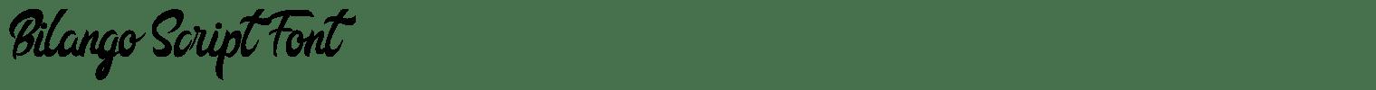 Bilango Script Font
