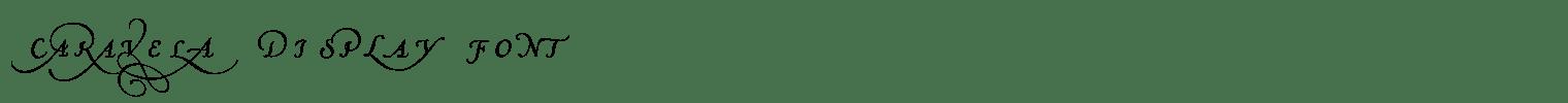 Caravela Display Font
