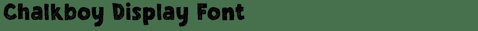 Chalkboy Display Font