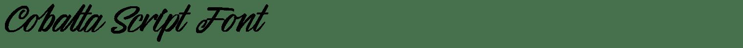Cobalta Script Font