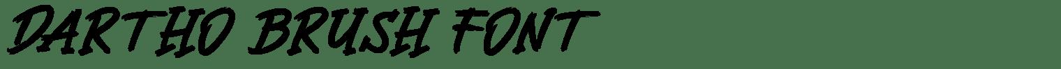 Dartho Brush Font