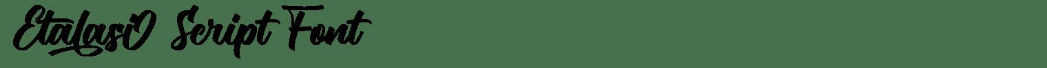 Etalasi Script Font