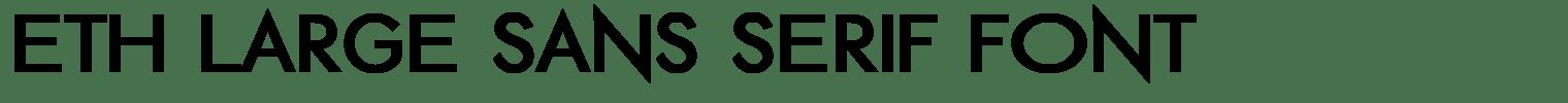 ETH Large Sans Serif Font
